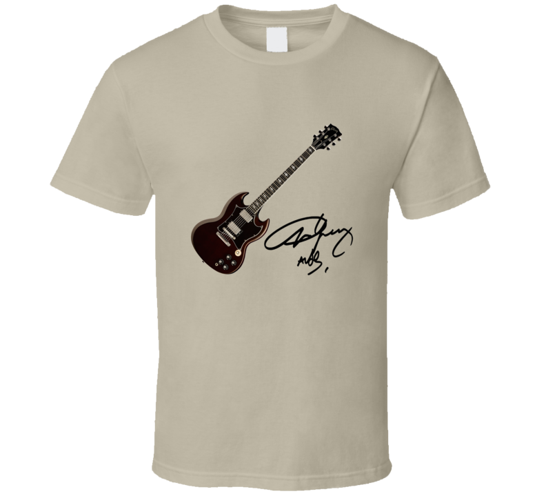 Angus Young's Jaydee Custom Guitar T Shirt