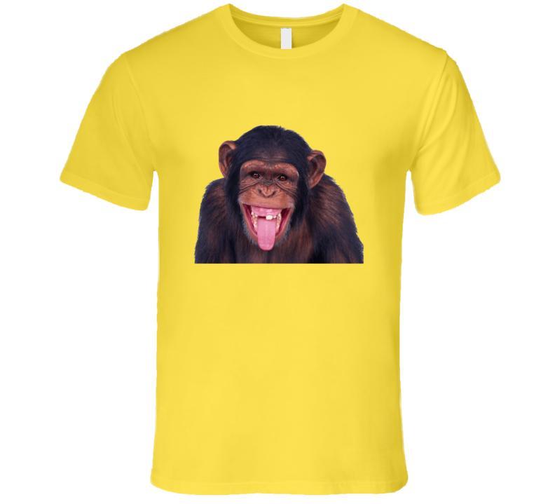 Smiling Chimpanzee T Shirt
