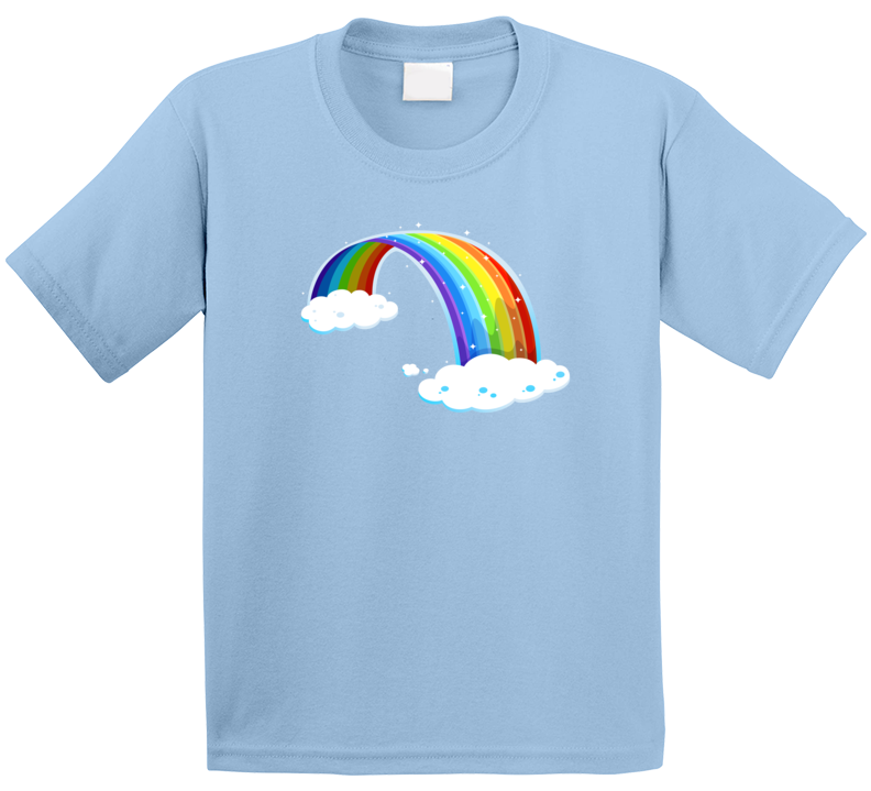 Rainbow And Clouds T Shirt