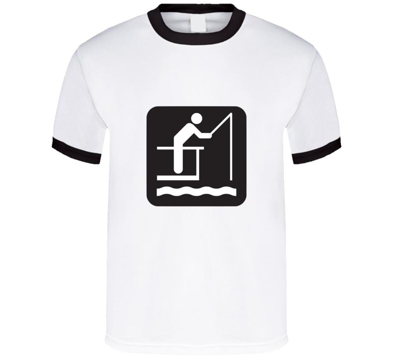 Fishing Stickman T Shirt
