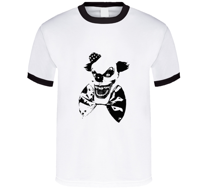 Creepy Clown Bow Tie T Shirt