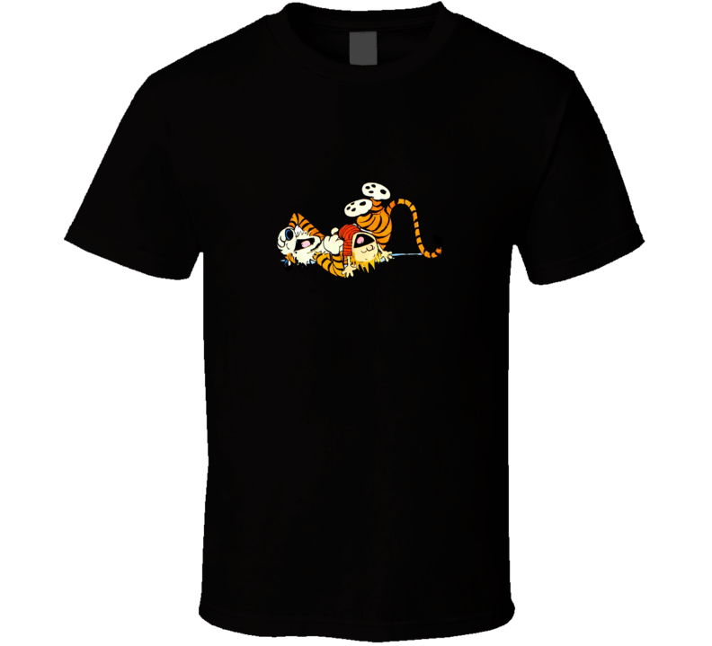 Calvin and hobbies comic T Shirt