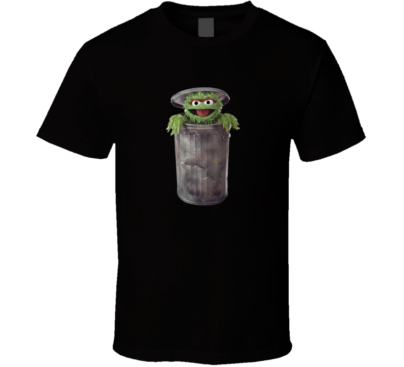 Oscar The Grouch Black Sesame Street T Shirt