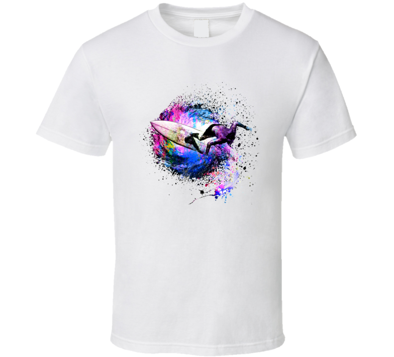 color Surfering Abstract T-shirt