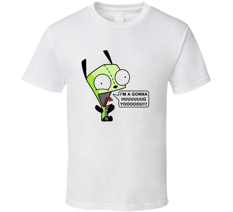Invader Zim Gir Hug shout T Shirt