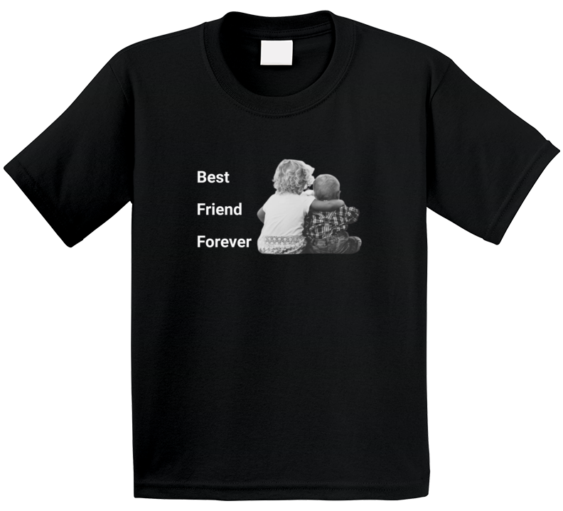 Best Friend Forever Black T Shirt Kids