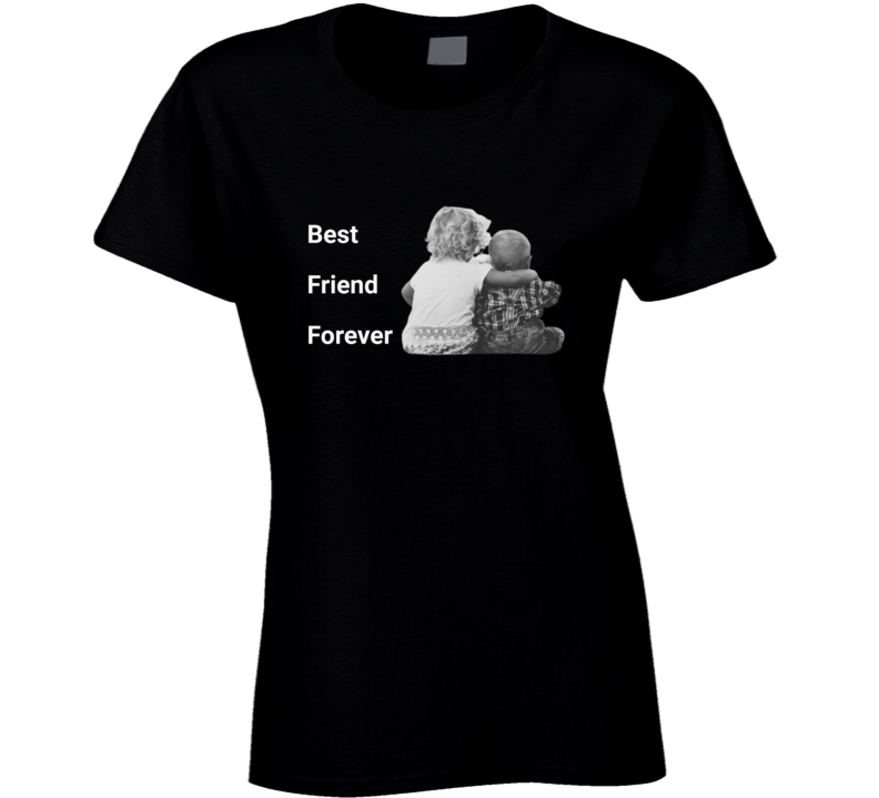 Best Friend Forever Black Ladies T Shirt