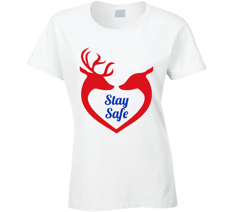 Reindeer Love White Ladies T Shirt
