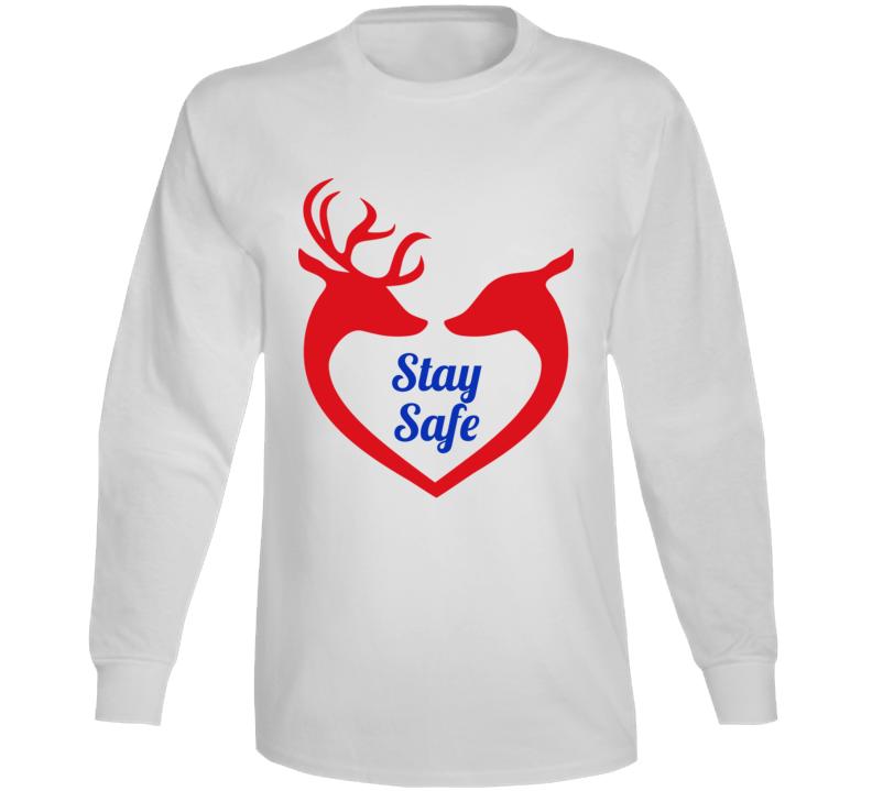 Reindeer Love White Long Sleeve T Shirt