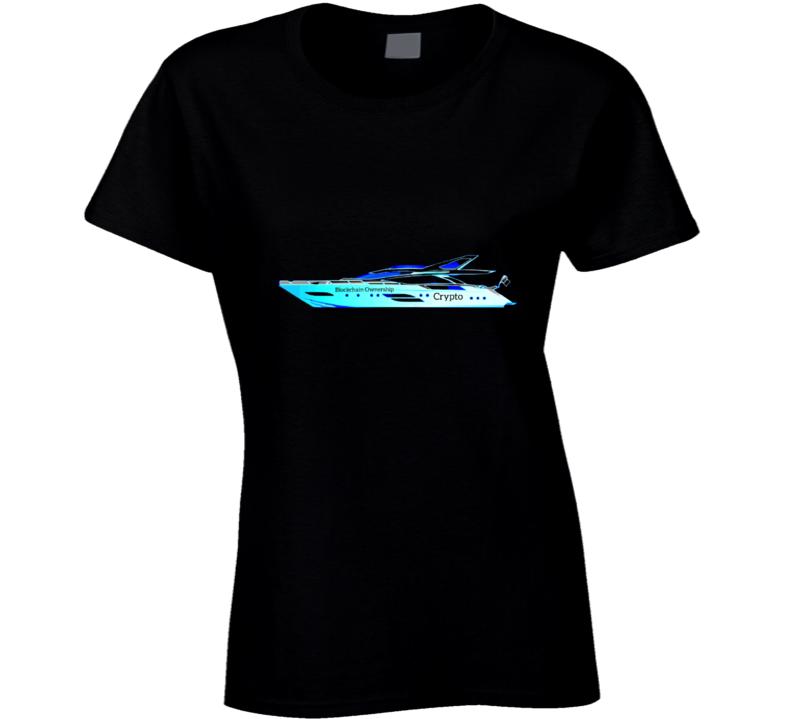 Blockchain Ownership 050721 Yblu Ladies T Shirt