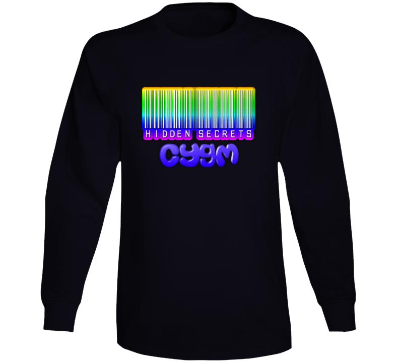 Hidden Secrets Barcode Blk Long Sleeve T Shirt