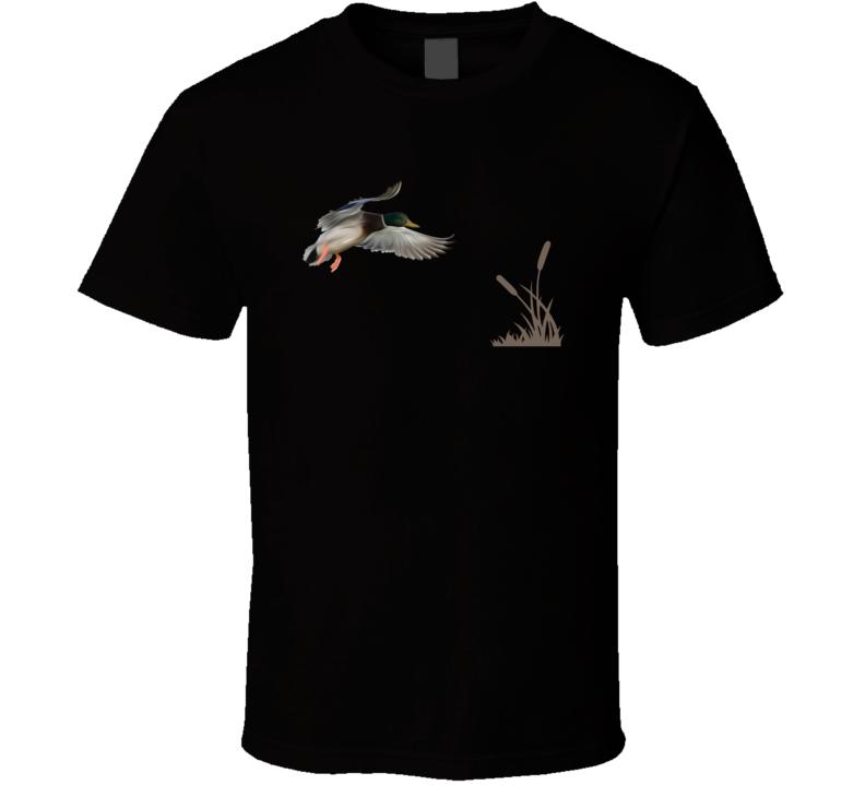 Mallard Duck Bird Landing Bullrushes Hunting Season T Shirt