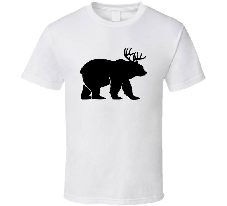 Beer Bear Deer Hunting Funny Parody Spoof T Shirt