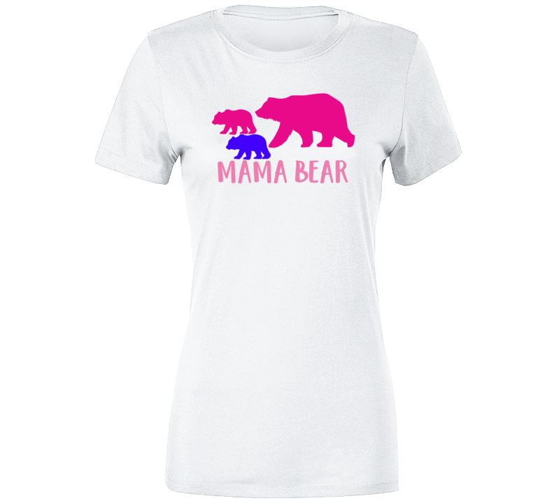 Mama Bear Mothers Day Gift  Ladies T Shirt