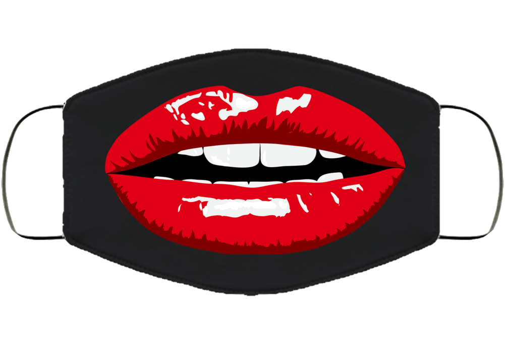 Red Lip Smile Funny Mask Sexy Pandemic  Face Mask Cover