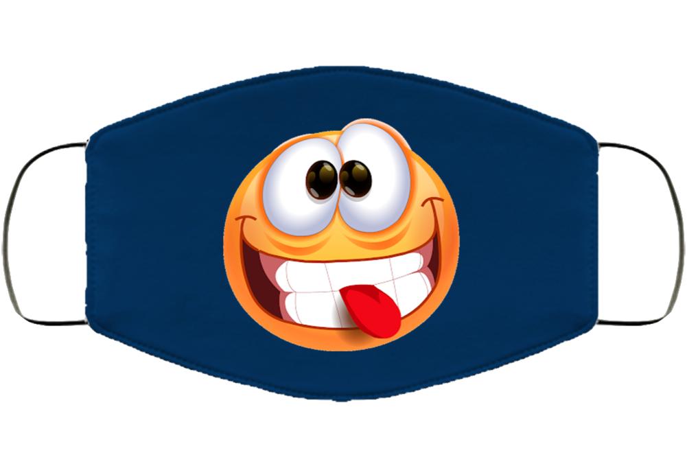 Crazy Goof Emoji Smile Pandemic Mask Funny Face Mask Cover