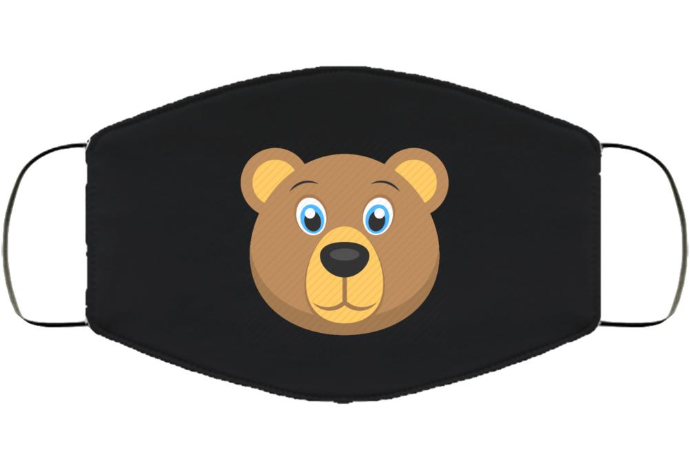 Bear Covid Pandemic Mask Face Mask Cover