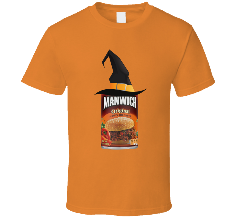 Manwich Witch Costume Halloween Funny Gift T Shirt