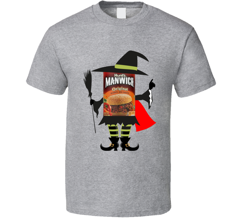 Manwich Costume Man Witch Halloween Funny Gift T Shirt
