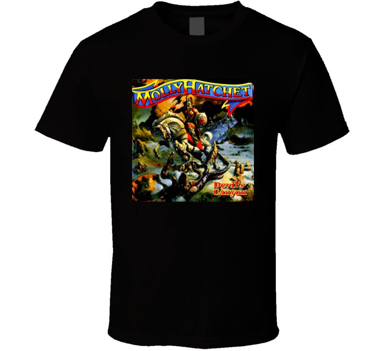 Southern Rock Music Molly Hatchet Devils Canyon T Shirt