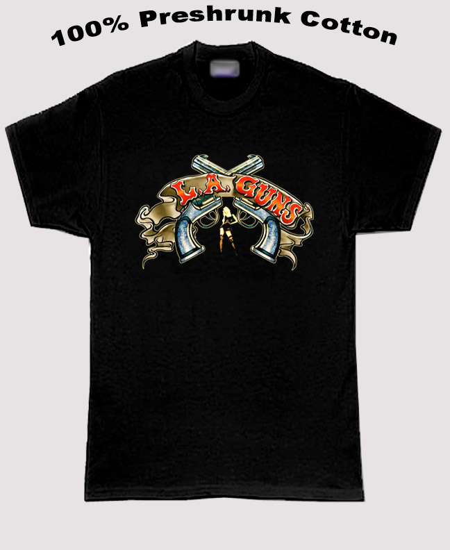La Guns Rock Group From La Guns And Girl T Shirt