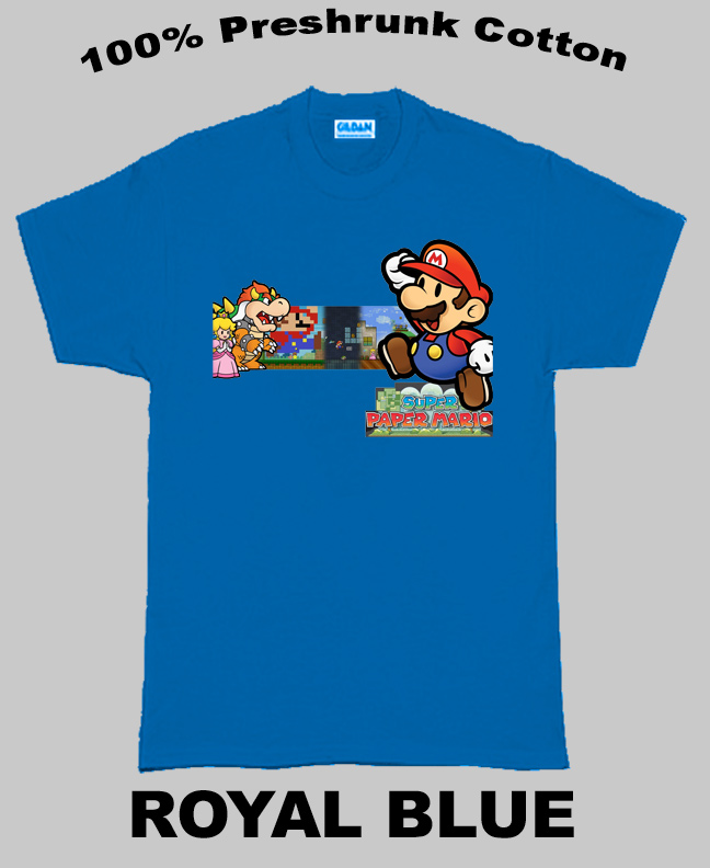 Super Paper Mario Nintendo Game T Shirt