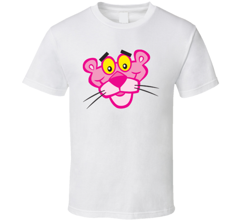 Pink Panther Cartoon Character Retro T Shirt