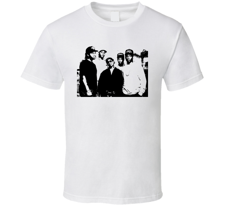 Nwa Hip Hop Gangster Dre Easy Ice Cube Yella West Coast T Shirt