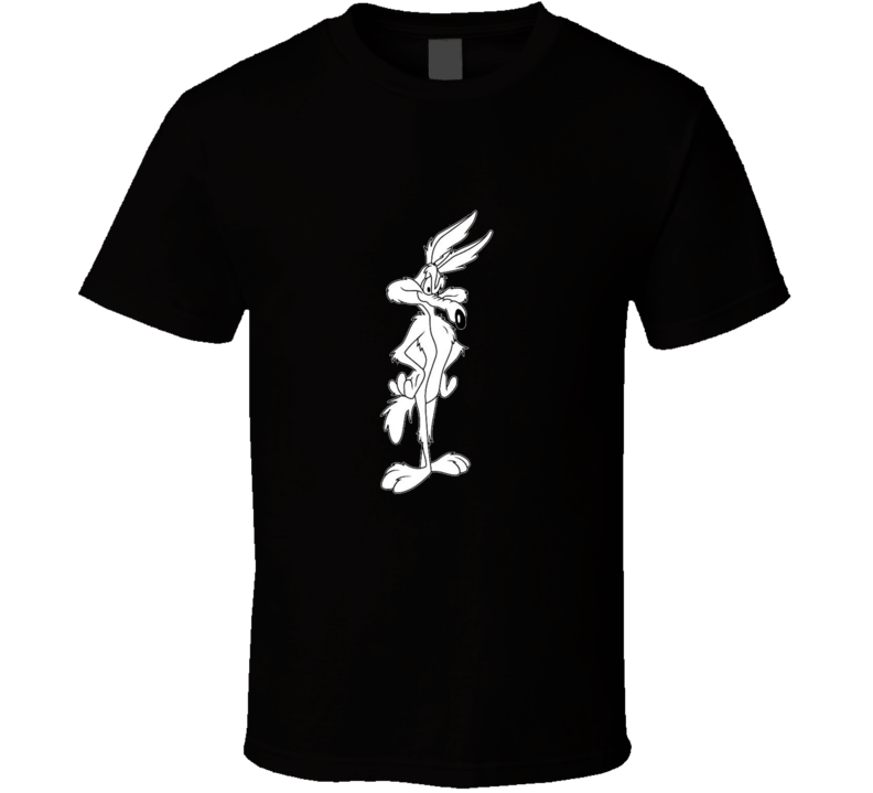 Wile E Coyote Looney Tunes Black and White Graphic T Shirt