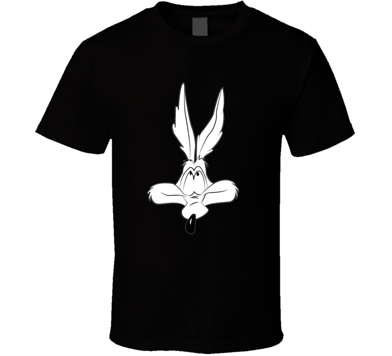Wile E Coyote Head Looney Tunes Black and White Graphic T Shirt