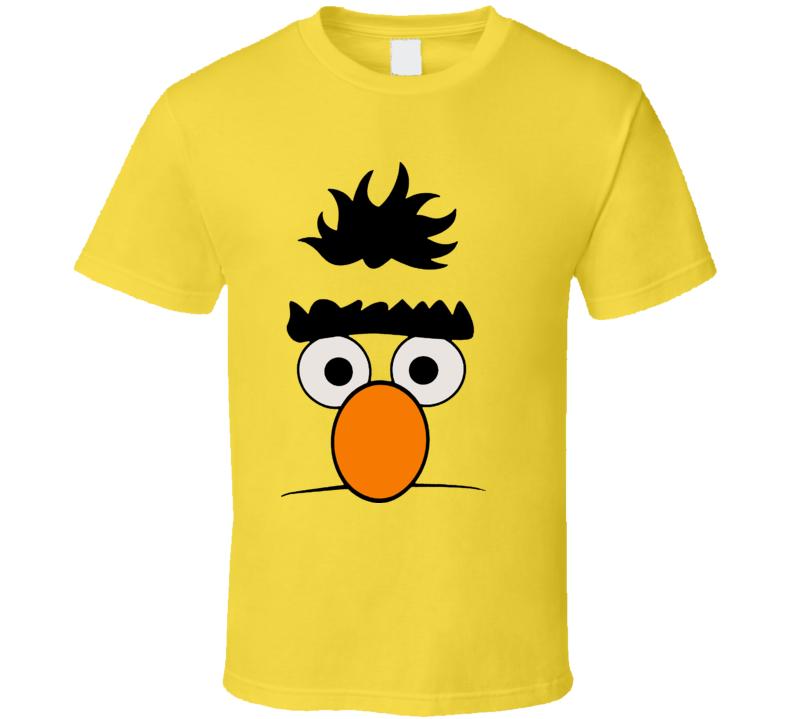 Bert Sesame Street Face Funny Joke T Shirt