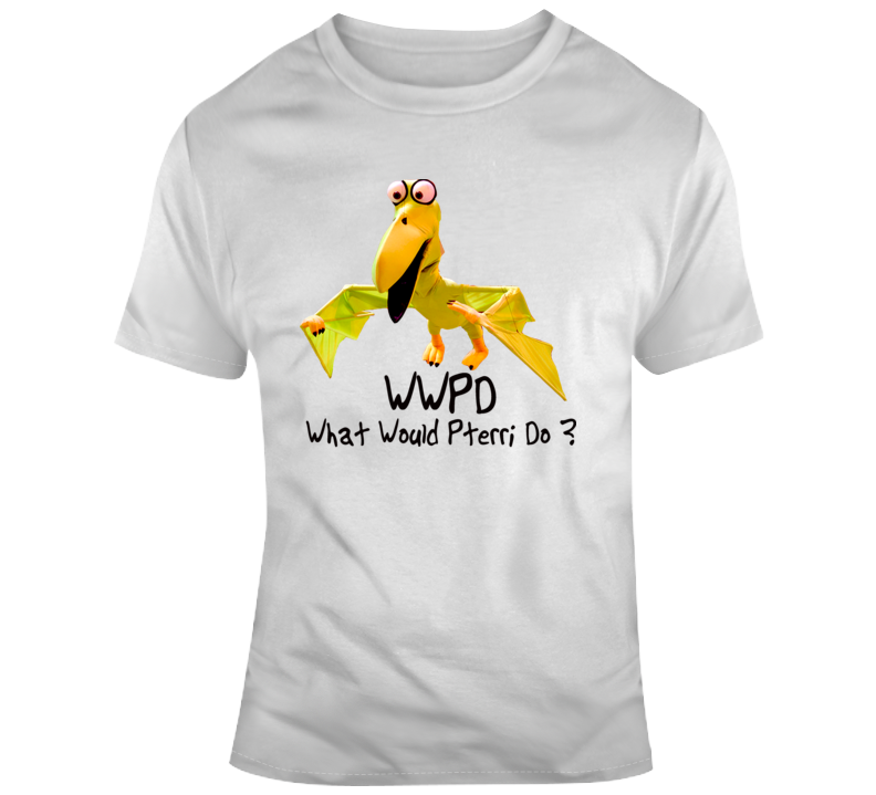 What Would Pterri Do Wwpd White Graphic T Shirt