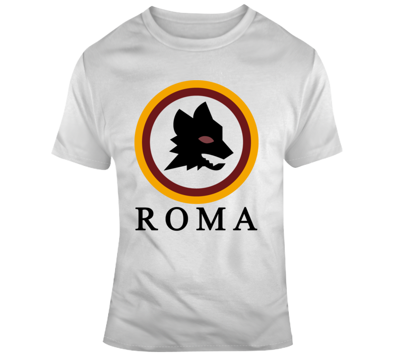 As Roma Wolf Logo Graphic T Shirt