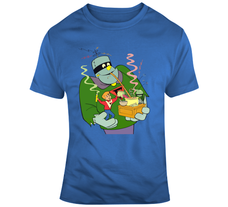 Frankenstein Jr The Impossibles Cartoon Blue Graphic T Shirt