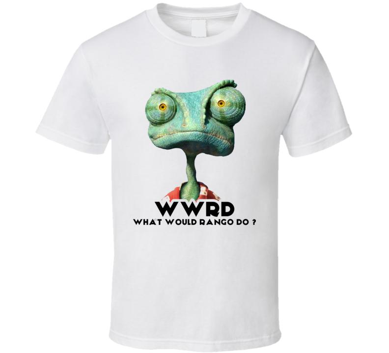 What Would Rango Do Wwrd White Graphic T Shirt