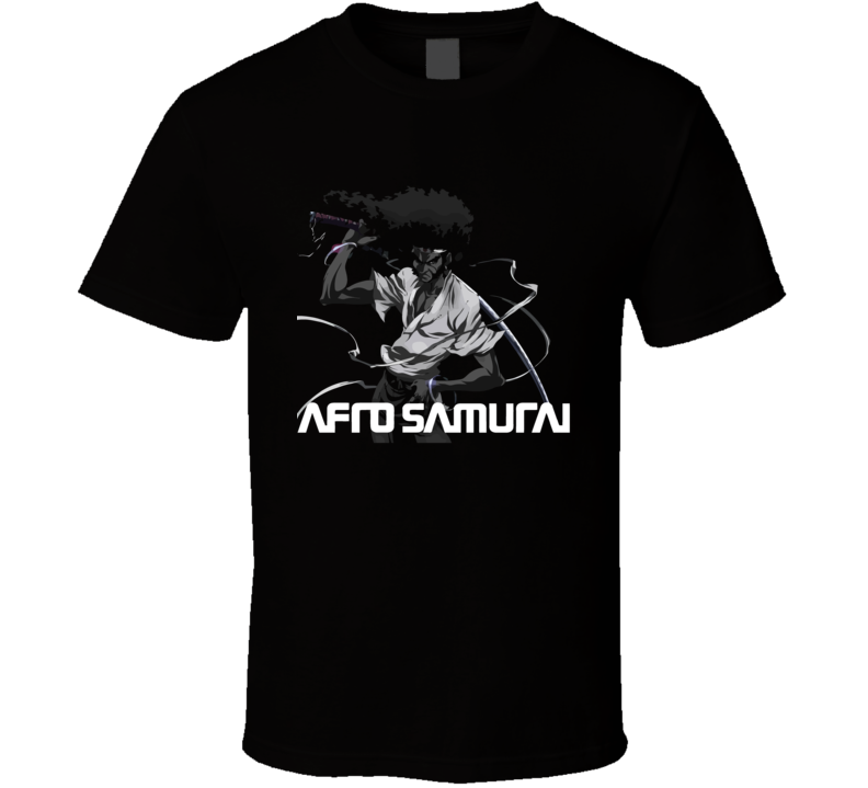Afro Samurai Anime Movie Graphic T Shirt