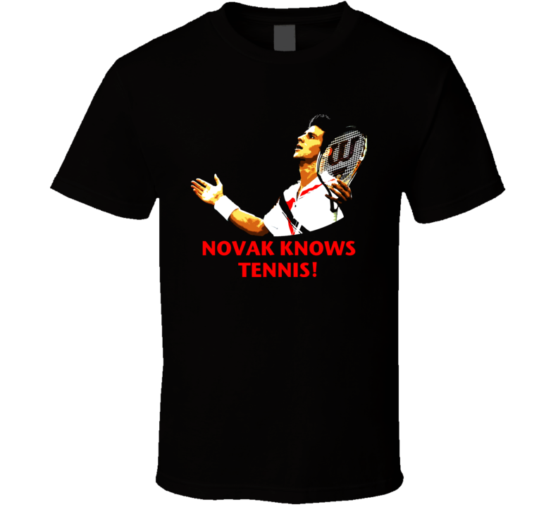 Novak Djokovic Serbian Tennis Player T Shirt