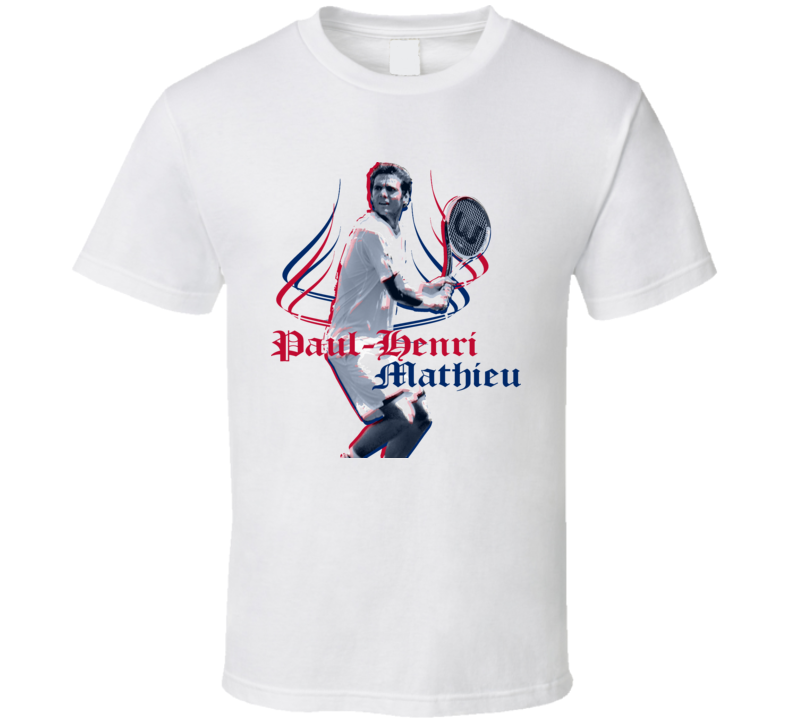 Paul Henri Mathieu France Tennis T Shirt