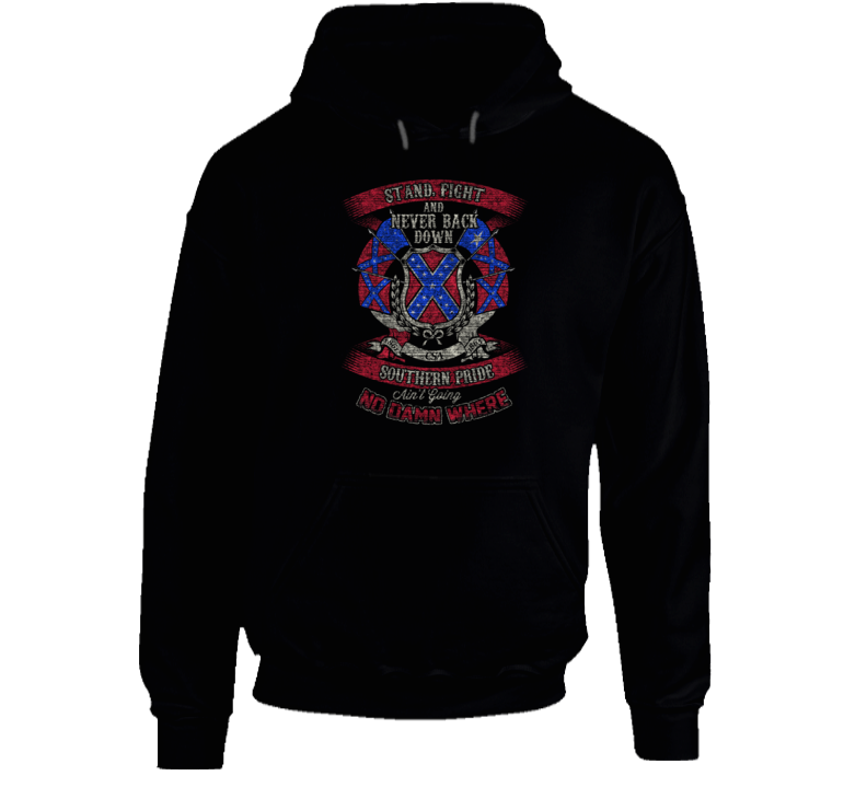 Stand Fight And Never Back Down Hoodie