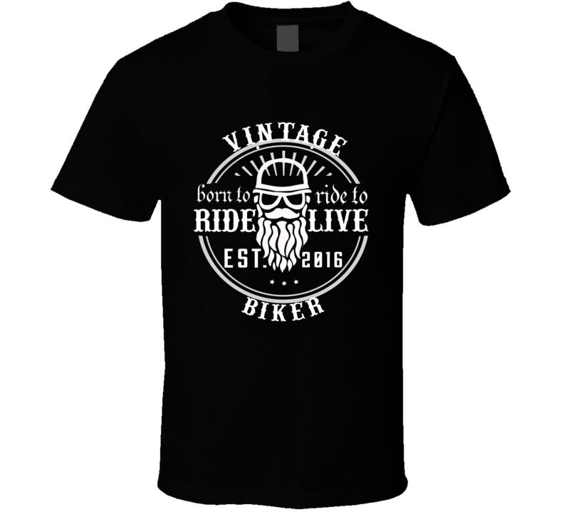 Vintage Biker Born To Ride T Shirt