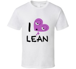 I Heart Lean Sizzurp Promethazine Codeine Rap Music Drugs Tshirt
