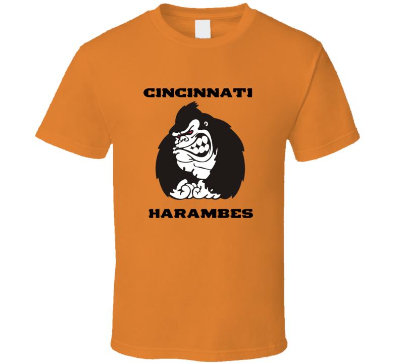 Cincinnati Harambes Football Funny Tshirt