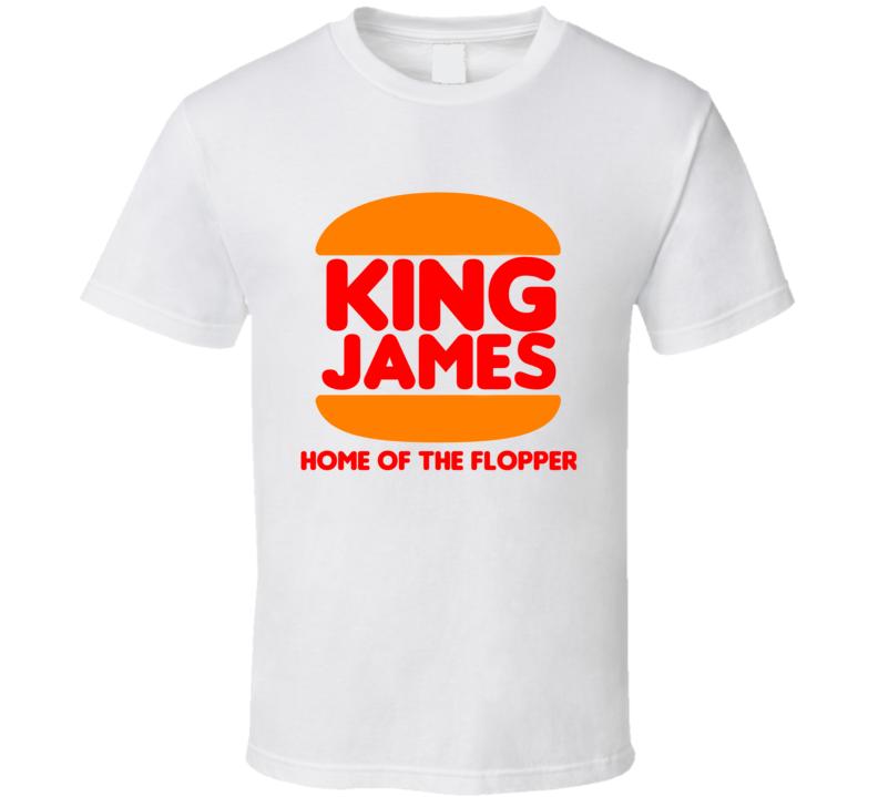 King James Burger King Funny Cleveland Basketball Tshirt