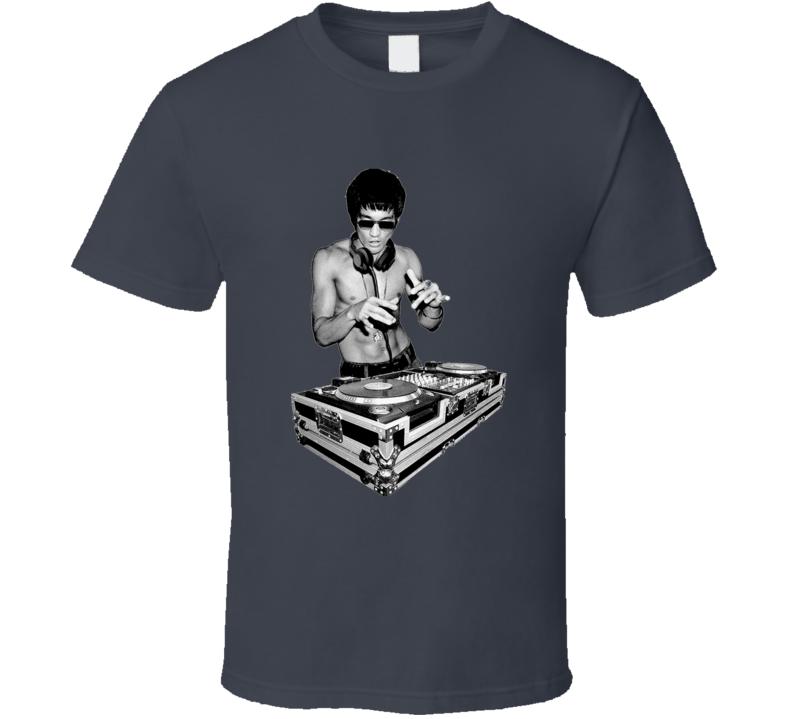 Robert Downey Jr Inspired Bruce Lee Funny DJ Avengers 2 Movie T Shirt