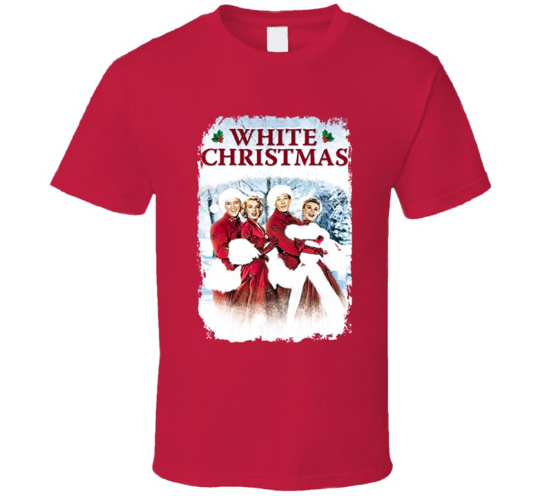 White Christmas Classic Holiday Movie Poster T Shirt
