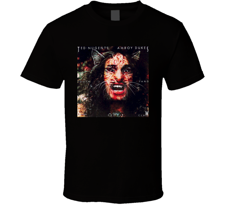 Dazed And Confused Ted Nugent Halloween costume Amboy Dukes Tooth Fang Claw T Shirt