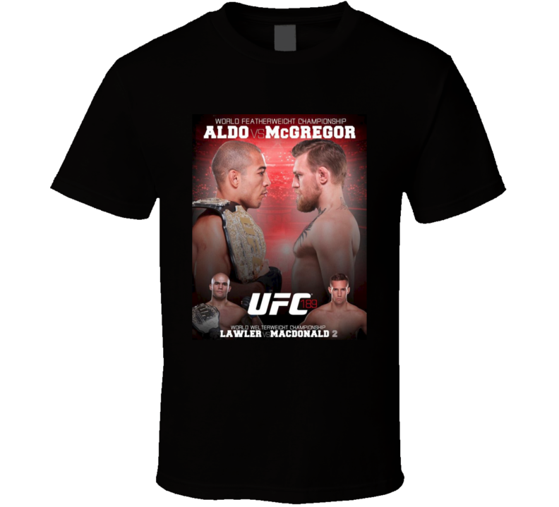 Aldo Vs McGregor UFC 183 Fight Card MMA Fighter T Shirt