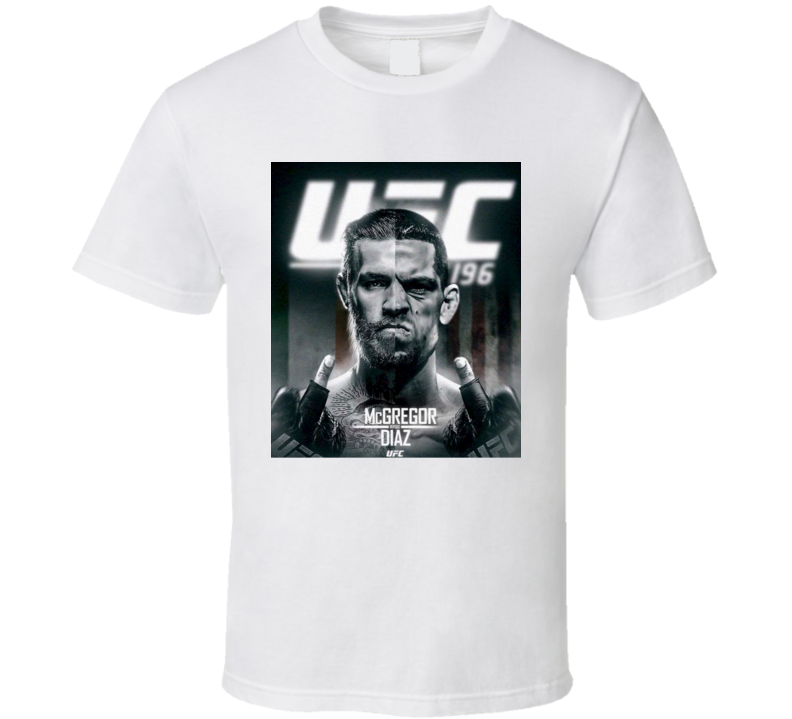 UFC 196 McGregor Verus Diaz Fight Card MMA Fighter Sport T Shirt