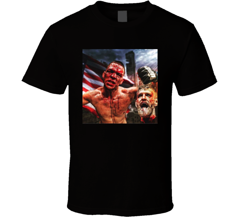 Nate Diaz Connor McGregor MMA Fighter Fan Cool T Shirt