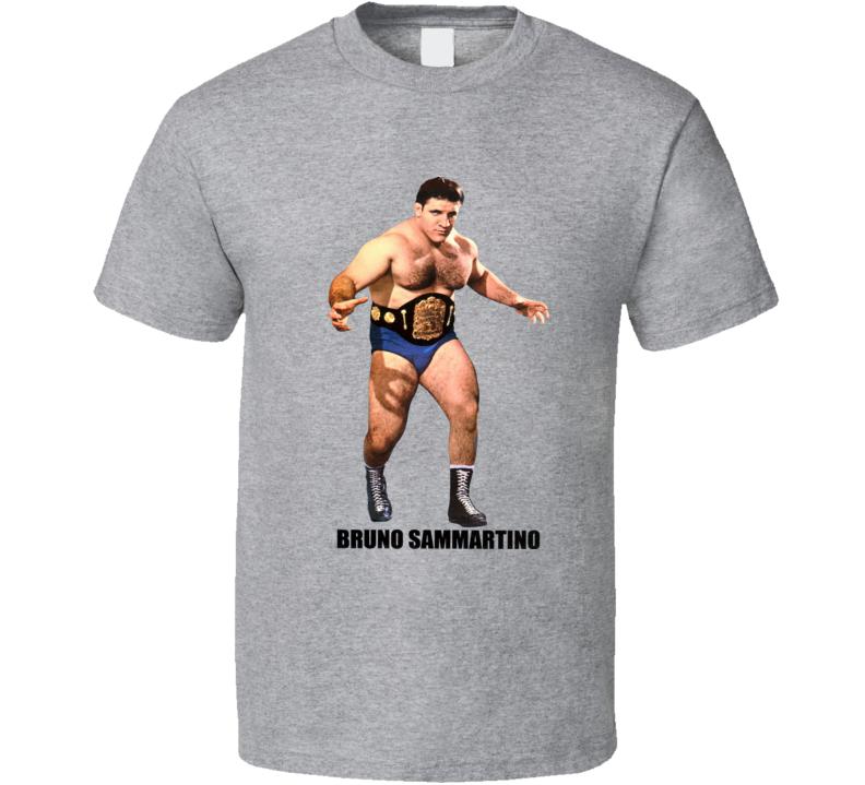 Bruno Sammartino Classic WWF Champion Wrestler Retro Wrestling T Shirt